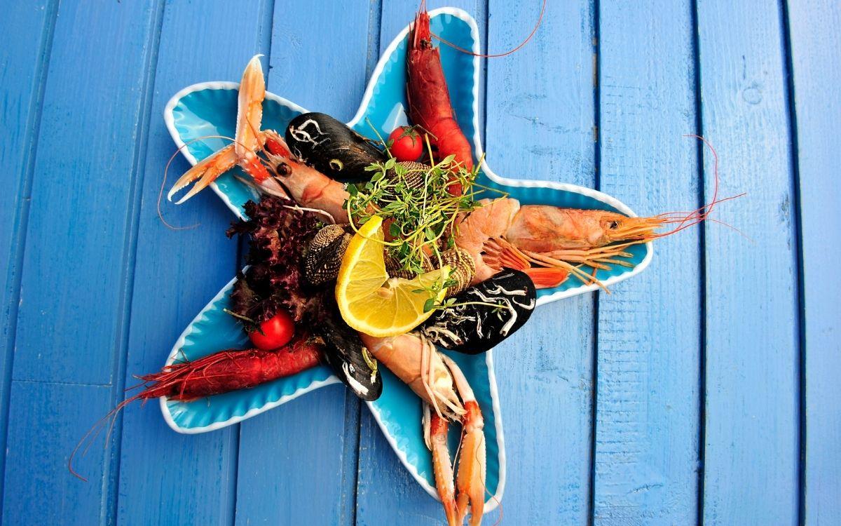 Морепродукти на блюді