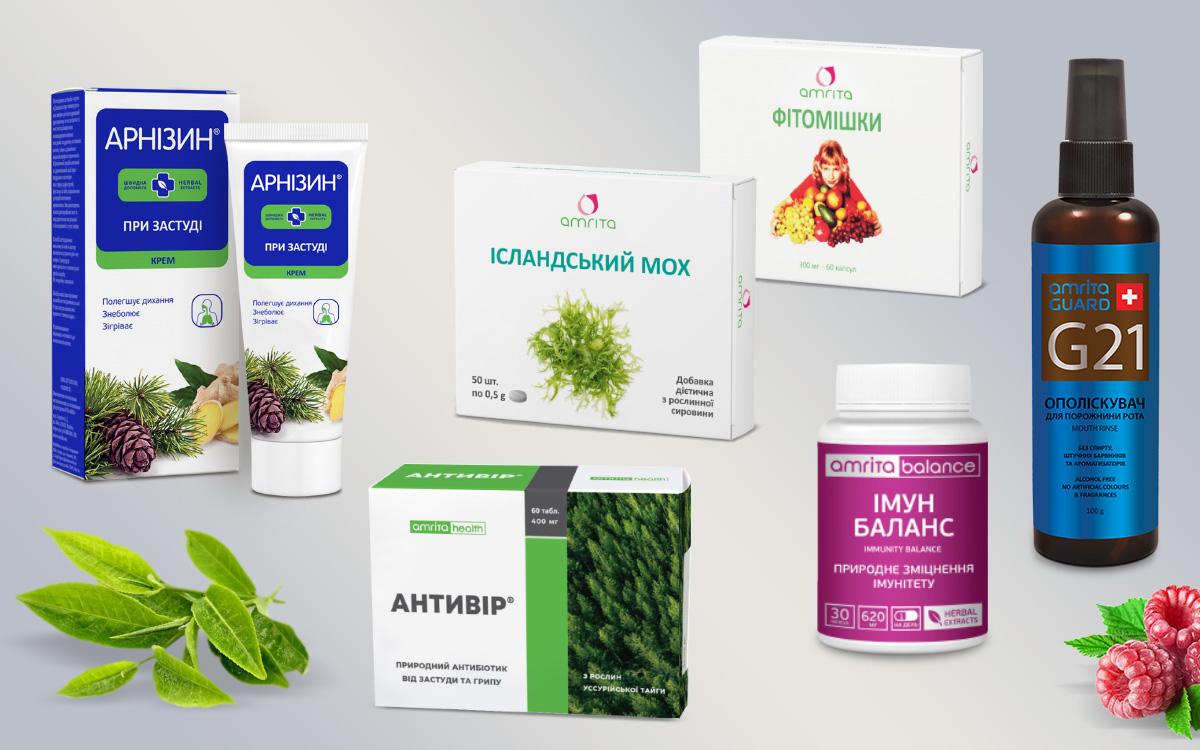 Арнизин при простуде, Иммун Баланс, Антивир, Исландский мох, Фитомишки, Ополаскиватель для полости рта  G21 от Амрита