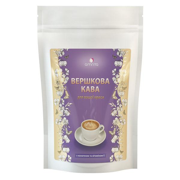 Вершкова кава з колагеном і вітаміном Е, 180 г | Amrita - зображення 1