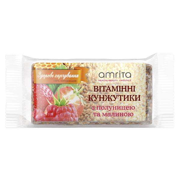 Кунжутики вітамінні «Полуниця-малина», 45 г