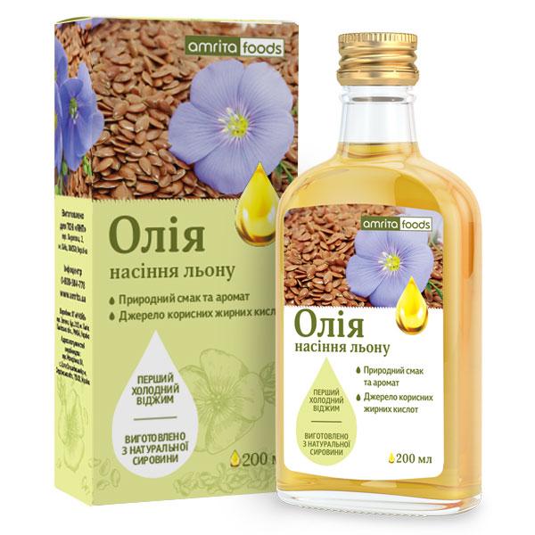 Масло из семян льна, 200 мл | Amrita - изображение 1