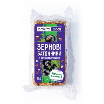 Зерновые батончики с черной смородиной | Amrita - изображение 1