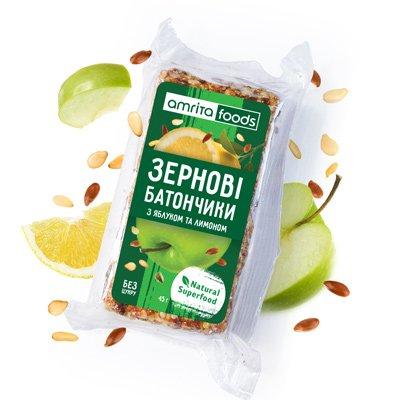 Зернові батончики з яблуком та лимоном | Amrita - зображення 3